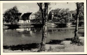Ak Roitzsch Sandersdorf Brehna in Sachsen Anhalt, Partie am Teich