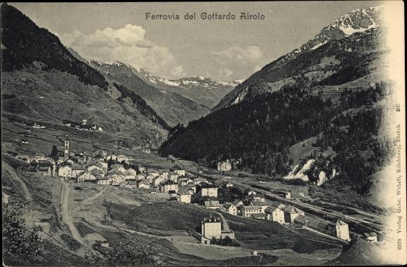 Ak Airolo Kanton Tessin Schweiz, Ferrovia del Gottardo
