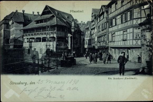 Ak Strasbourg Straßburg Elsass Bas Rhin, Pflanzbad