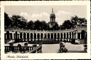Ak Wrocław Breslau Schlesien, Liebichshöhe, Arkaden