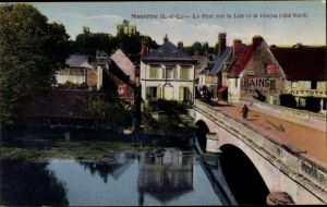 Ak Montoire sur le Loir Loir et Cher, Le Pont sur de Loir et le Donjon