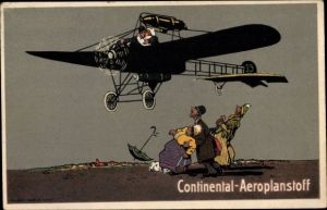 Künstler Ak Continental Aeroplanstoff, Flugzeug, C. C. & G. P. Co. Hannover