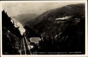 Ak Gremmelsbach Triberg im Schwarzwald, Seelenwald, Schwarzwaldbahn, Haldentunnel, Seelenwaldkurve
