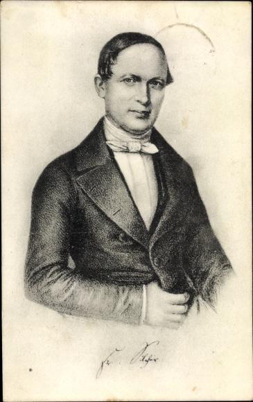 Künstler Ak Philipp Friedrich Silcher, Portrait, Tübingen