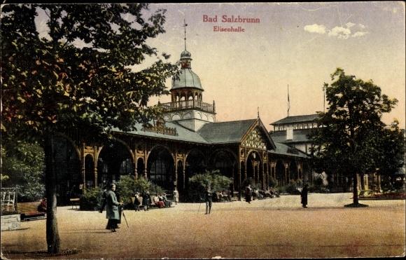 Ak Szczawno Zdrój Bad Salzbrunn Schlesien, Elisenhalle