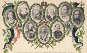 Glitzer Ak Deutsche Kaiser und Könige, Hohenzollern, Preußen, 200jh Jubiläum 1901