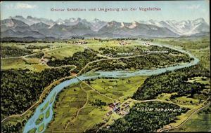 Landkarten Ak Felle, Eugen, Schäftlarn in Oberbayern, Kloster, Deining, Ergershausen, Puppling