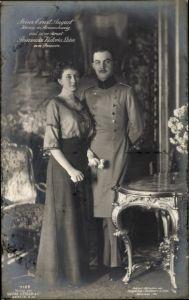 Ak Herzog Ernst August von Braunschweig, Prinzessin Victoria Luise von Preußen, Portrait