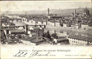 Ak Firenze Florenz Toscana, Panorama dal piazzale Michelangelo, Dom