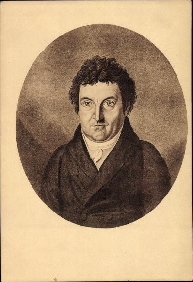 Künstler Ak Philosoph Johann Gottlieb Fichte, Portrait