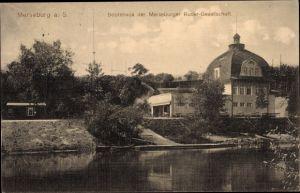 Ak Merseburg an der Saale, Bootshaus, Merseburger Ruder Gesellschaft