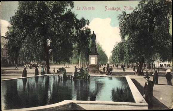 Ak Santiago de Chile, La Alameda