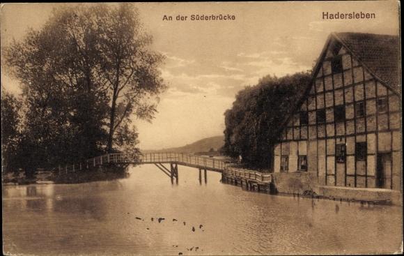 Ak Haderslev Hadersleben Dänemark, An der Süderbrücke