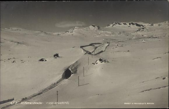 Ak Finse Norwegen, Bergensbanen, Finse Haugastöl, Landschaftsansicht, Schnee