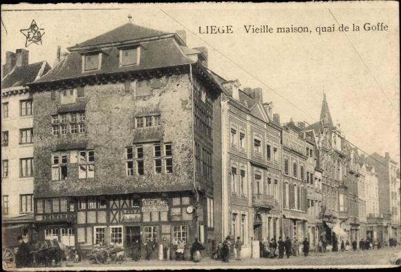 Ak Liège Lüttich Wallonien, Vieille maison, quai de la Goffe