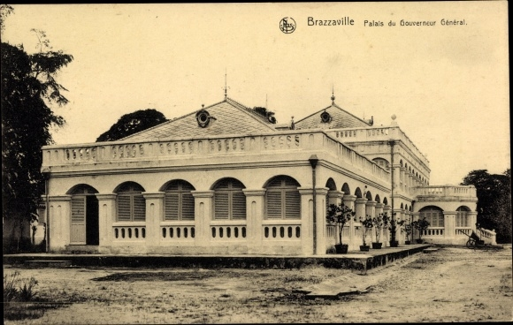 Ak Brazzaville Franz. Kongo, Palais du Gouverneur Général
