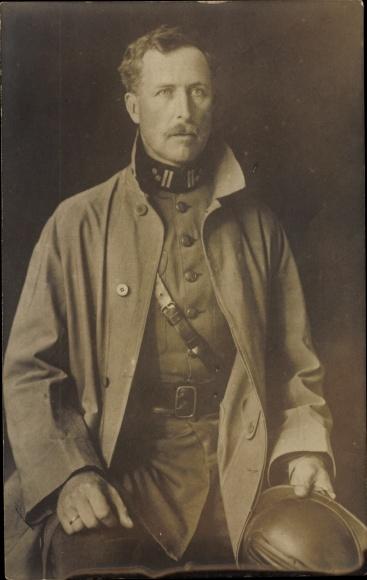 Ak König Albert I. von Belgien, Portrait in Uniform