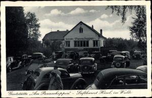 Ak Hösel Ratingen Nordrhein Westfalen, Gaststätte am Pannschoppen, Außenansicht, parkende Autos