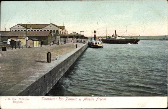 Ak Tampico Tamaulipas Mexiko, Rio Panuco y Muelle Fiscal