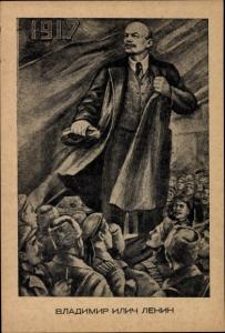 Künstler Ak Wladimir Iljitsch Lenin, 1917, Soldaten