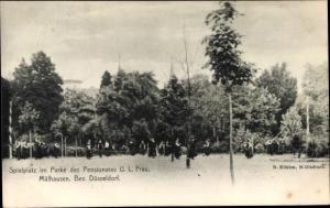 Ak Mülhausen Grefrath Nordrhein Westfalen, Spielplatz, Park, Pensionat U. L. Frau, Kinder
