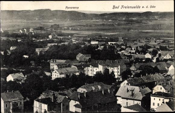 Ak Bad Freienwalde an der Oder, Panorama vom Ort mit Umgebung