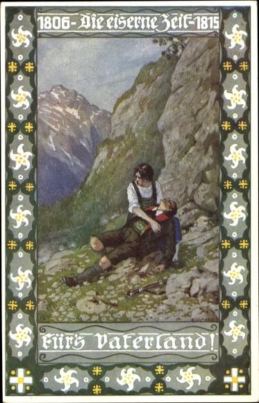 Künstler Ak Eiserne Zeit, 1806 bis 1815, Deutsche Befreiungskriege, Novitas 25 182, fürs Vaterland
