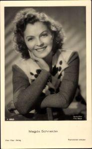 Ak Schauspielerin Magda Schneider, Berlin Film, Portrait