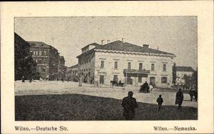 Ak Vilnius Wilna Litauen, Deutsche Straße, Nemezka