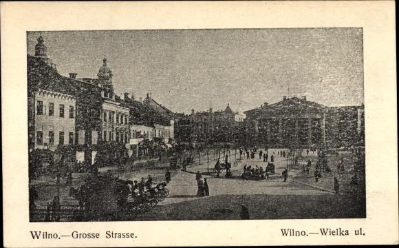 Ak Vilnius Wilna Litauen, Große Straße, Wielka ul.