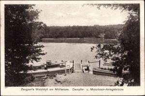 Ak Alt Buchhorst Grünheide in der Mark, Zeugner's Waldidyll am Möllensee, Dampferanlegestelle