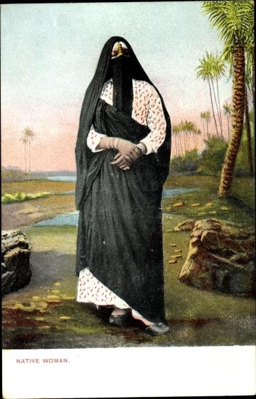 Ak Native Woman, Portrait, Cairo Kairo Ägypten