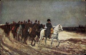 Künstler Ak Napoleon Bonaparte, Kaiser Napoleon I., Soldaten