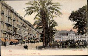 Ak Nice Nizza Alpes Maritimes, Avenue Massena