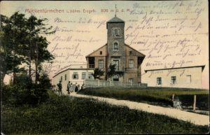 Ak Komáří hůrka Mückentürmchen Osterzgebirge Reg. Aussig, Aussichtsturm