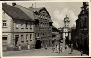 Ak Zeulenroda Triebes Thüringen, Kirchstraße, Hotel goldener Löwe
