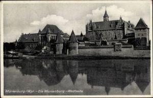 Ak Malbork Marienburg Westpreußen, Marienburg, Westseite