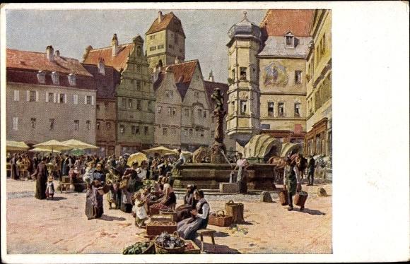 Künstler Ak Hey, Paul, Aus einer alten deutschen Stadt, Nr 115, Novitas