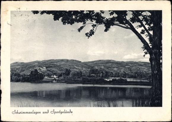 Ak Stubenberg Steiermark, Sportbereichsschule Schloss Schielleiten, Schwimmanlagen u. Sportgelände