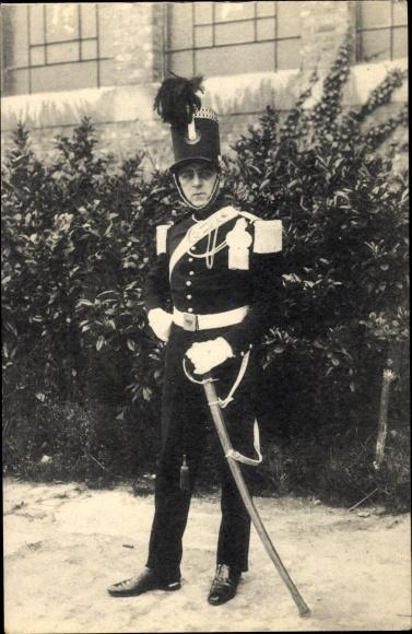 Ak Belgien, Fete Militaire du Centenaire, Officier du 1er Chasseurs à cheval