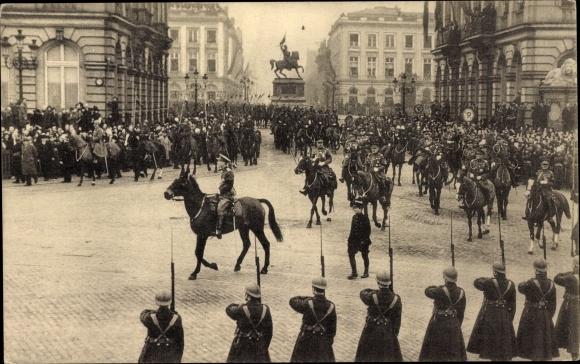 Ak Bruxelles Brüssel, König Leopold III. von Belgien, Prinz Charles, Place Royale