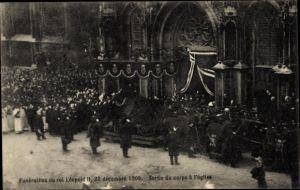 Ak Bruxelles Brüssel, Funerailles du Roi Leopold II, Begräbnis König Leopold II. von Belgien, 1909