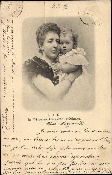 Ak Princesse Henriette d'Orleans, Prinzessin Henriette von Belgien