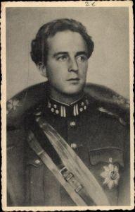 Ak König Leopold III. von Belgien, Uniform, Orden