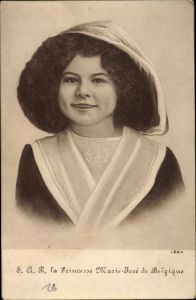 Ak Prinzessin Marie José von Belgien, Kinderportrait