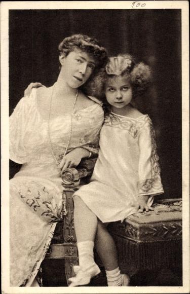 Ak Königin Elisabeth Gabriele von Belgien, Prinzessin Marie José