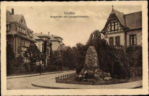 Ak Gießen an der Lahn Hessen, Bergstraße, Jahn Gedenkstein