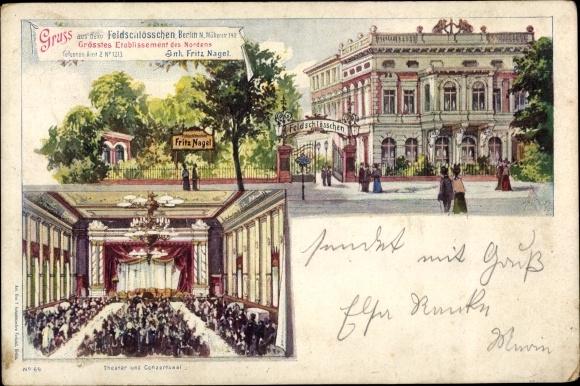 Künstler Ak Berlin Wedding, Feldschlösschen, Inh. Fritz Nagel