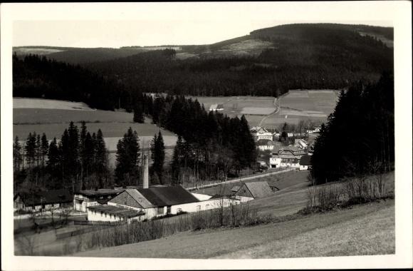 Ak Hinterwinkel Deštné v Orlických horách Deschnei im Adlergebirge Königgrätz, Totalansicht