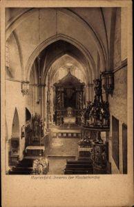Ak Marienfeld Harsewinkel Westfalen, Innenansicht der Klosterkirche, Kanzel, Altar